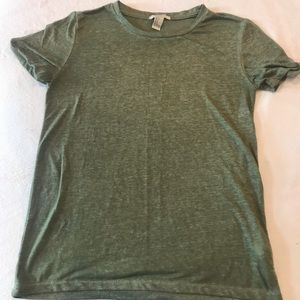 Forever 21 Green Heathered T-Shirt